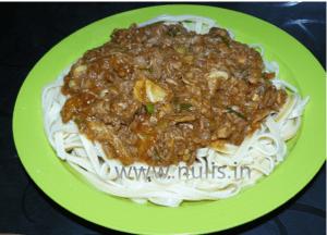 Spaghetti saus tuna