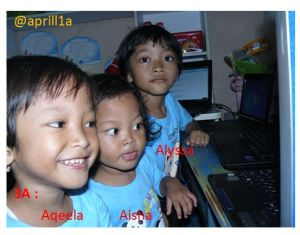 Anak-anakpun suka e-learning :)