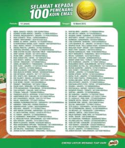 100 Pemenang Koin Emas MILO (Periode 6)