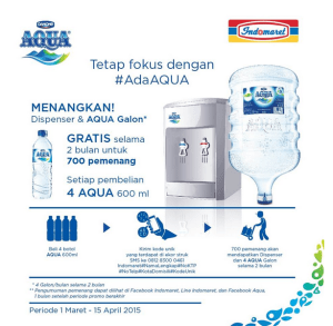 Menangkan Dispenser & Aqua Galon Dari Indomaret
