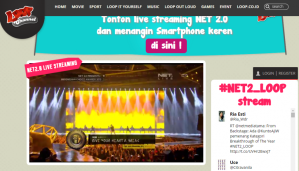 Keren Live Streamingnya NET 2,0 Via Loop Channel!!