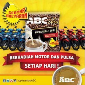 Kopi ABC Berhadiah Motor & Pulsa Setiap Hari