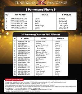 25 Pemenang Tunjukan X Faktormu (Alfamart)