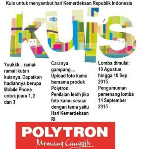 Kontes Foto & Motto Polytron Berhadiah Mobile Phone