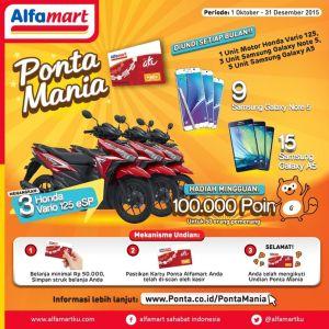 Ponta Mania Berhadiah Honda Vario