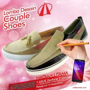Lomba Design Couple Shoes Ardiles Berhadiah Asus Zenfone 2