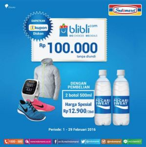 Voucher Blibli 100K Dari Pocari Sweat & Indomaret