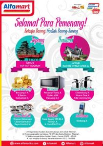 18 Pemenang Shopping Group Race Alfamart