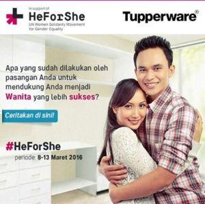 Heforshe Berhadiah Produk Tupperware