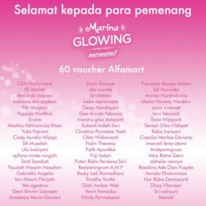 66 Pemenang Marina Glowing Moment