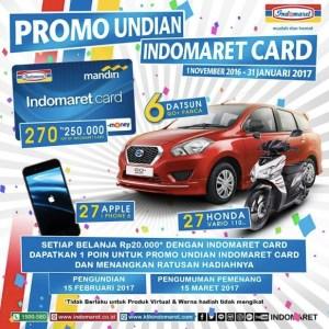 Undian Indomaret Card Berhadiah 6 Datsun Go Panca