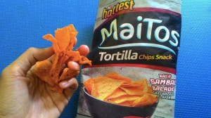Maitos Tortilla Chips Snack Rasa Balado : Pas Banget Pedasnya, Cocok Rasanya