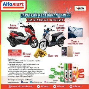 Undian V Fresh Alfamart Berhadiah Motor Yamaha N-Max