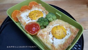 Roti Keju Telur Panggang