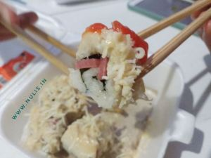 Sushi Beef Kedai Oramen : Taburan Kejunya Full...!!