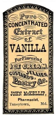 vanilla extract vintage
