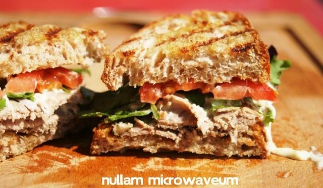 Sandwich met rosbief en mierikswortelsaus