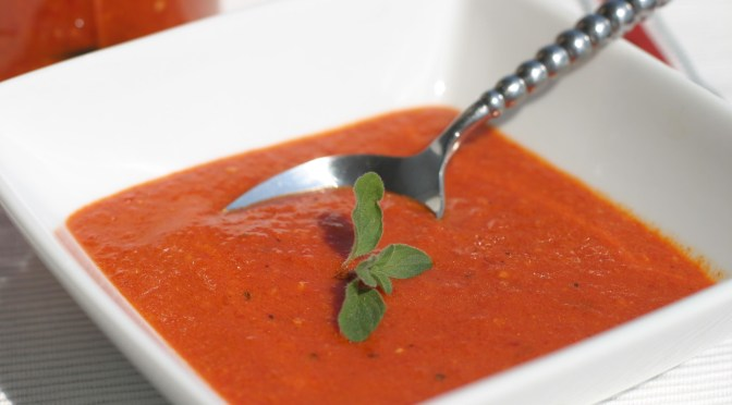Vinaigrette van geroosterde rode paprika's