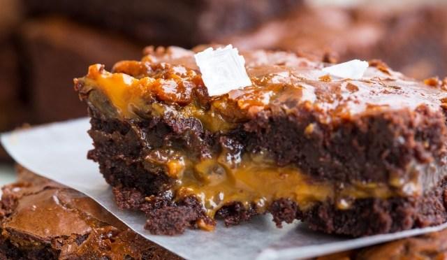 Gezouten karamel brownies