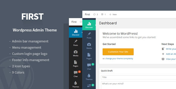 First  WordPress Admin Theme