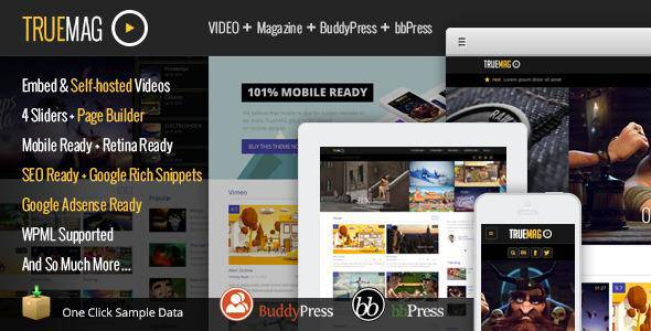 True Mag v2.4.1 - ThemeForest Download - Themeforest WP Theme for Video and Magazine