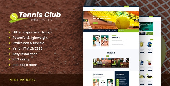 Tennis Club v1.0 - Sports & Events Site Template