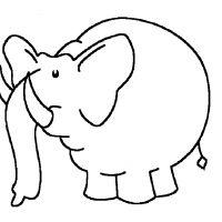 Раскраски Слон - Сайт для мам малышей