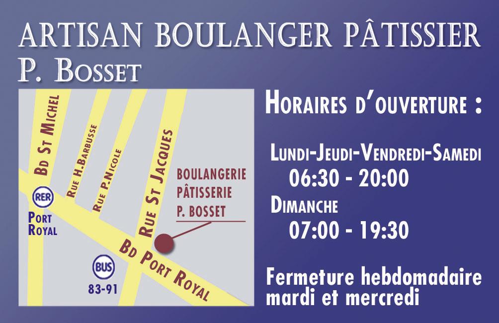Carte De Visite Boulangerie Patisserie VERSO