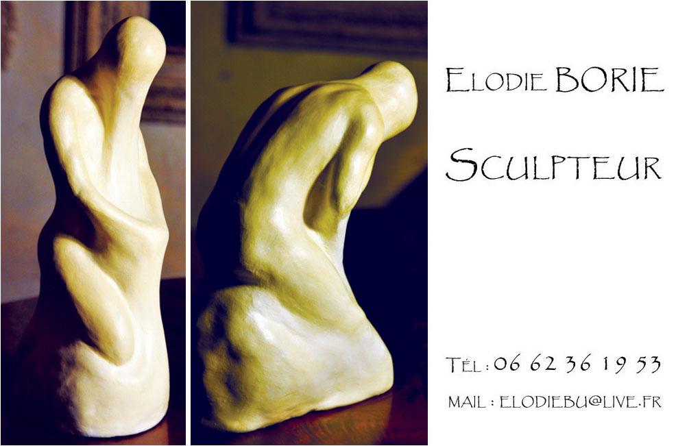 Cartes De Visite Elodie Borie Sculpteur