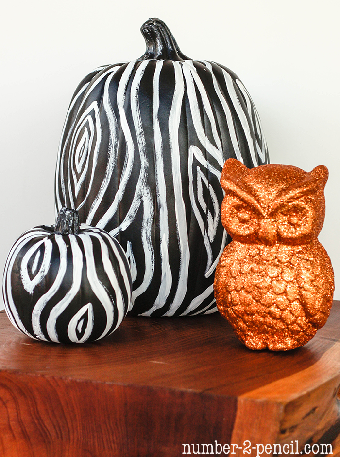 Painted Pumpkins | Faux Bois Pumpkins