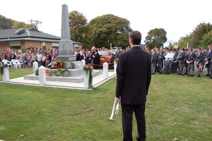 Last year's Anzac Day service in Gordonton.
