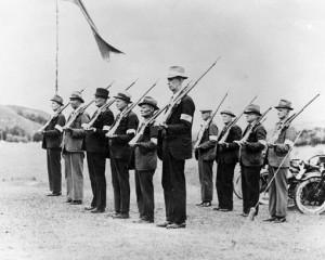Members of the Home Guard train in the Waikato.  Photo: Hamilton Central Library