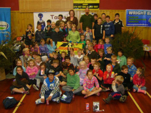 Rushbrooke Building Services donated prizes for every child
