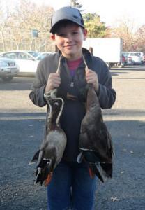 Michael Stobie with his ducks