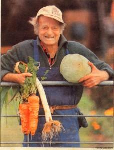 Peter Blank lived close to the soil.  Photo:  Jason South, Waikato Times.