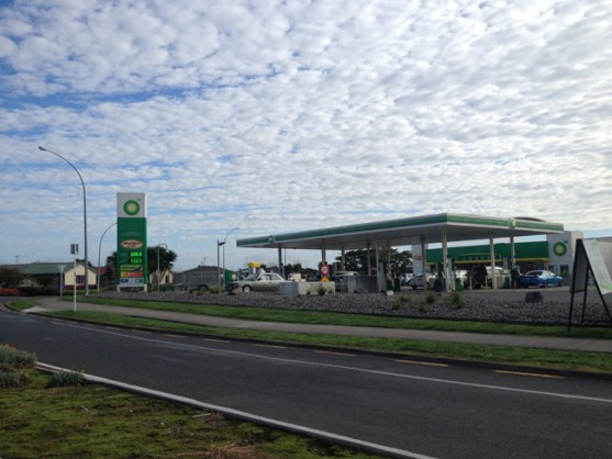 """""""We're not asking them to offer a forecourt service and shine our shoes. We're asking them to offer the same rates that other stations do""""  - Jennifer Babich, who also took this pic of BP"""