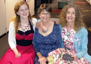 All winners on the night: Iris, Pip and Annette