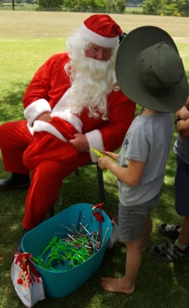 Santa visits Whitikahu School