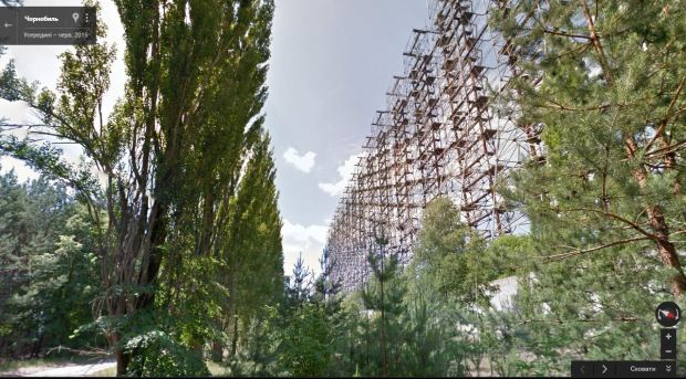 View on Duga 1 radar located in Chornobyl exclusion zone