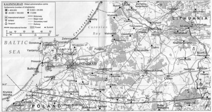Kalinigrad map