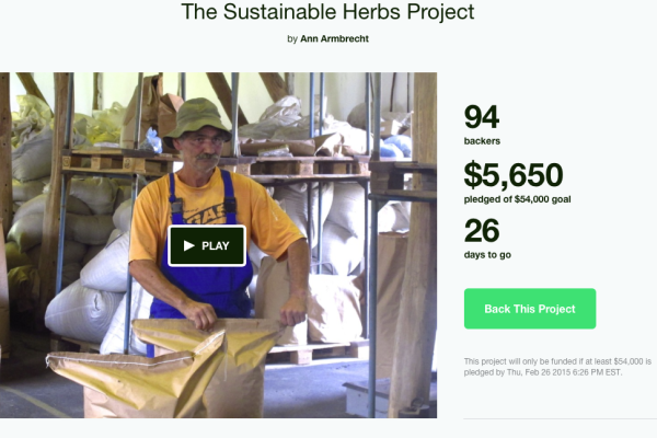 Support the Sustainable Herbs Project Kickstarter Campaign!