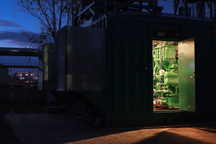 Фото: газо-поршневой генератор
