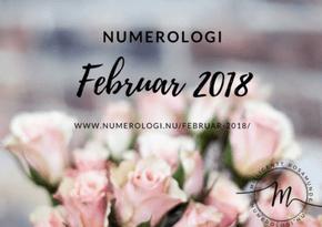 Numerologisk tema i februar måned 2018 - match numerolog Millicentt Rosamunde