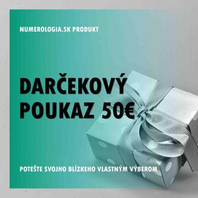 produkt Darčekový poukaz v hodnote 50 eur