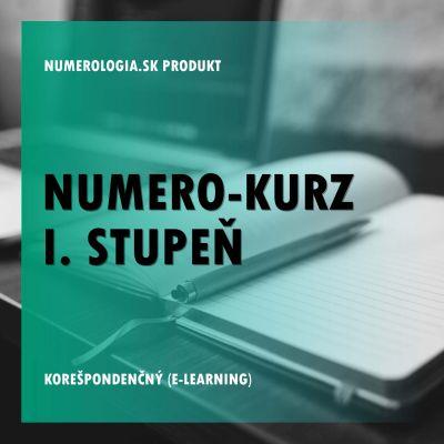 produkt Numero-kurz I. stupeň korešpondenčný