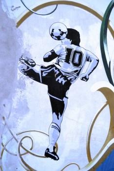 Graffito su muro, Buenos Aires. Foto di Alessandro Derchi.