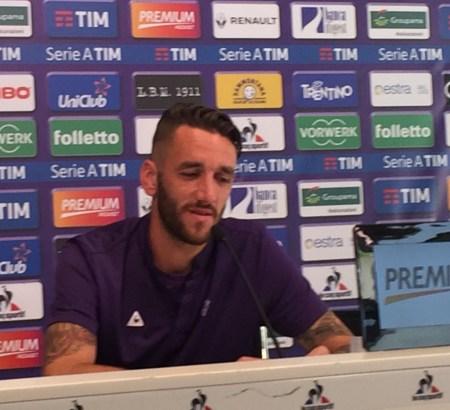 L'ultima conferenza stampa in maglia viola, di Gonzalo Rodriguez. Foto di Giacomo Brunetti