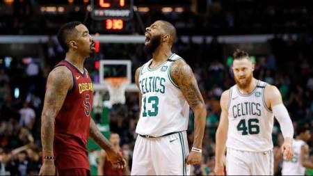 L'urlo di uno dei grandi protagonisti di Gara-1 per i Celtics, Marcus Morris | numerosette.eu
