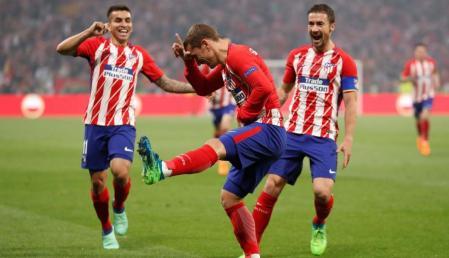 L'esultanza di Griezmann e di tutto l'Atletico Madrid   numerosette.eu