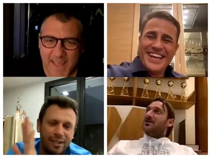 Le dirette instagram di Vieri, Cassano, Cannavaro e Totti in quarantena